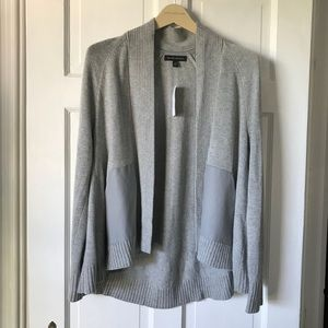💕NWT Banana Republic Gray Sweater w/ Faux Leather